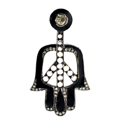 Diamond Hamsa Pendants