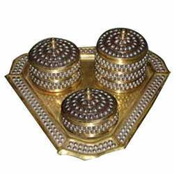Brass Stone Boxes