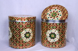 Golden Meenakari Dabba/ Box