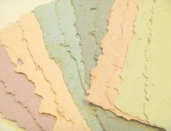 Colored Deckle Edged Handmade Papers