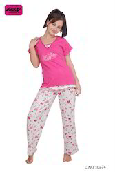 Ladies Cotton Pajamas