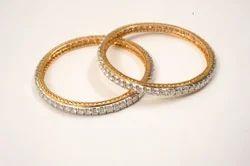 Gold Moissanite Bangles