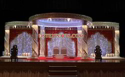 Latest Design Wedding Fiber Crystal Mandap