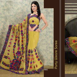 Threadwork Designer Sarees