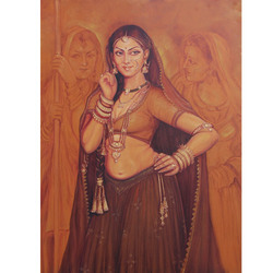 Rajasthani Women Painting