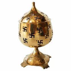 Swastik Brass Diya