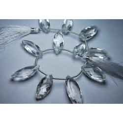 Natural Rock Crystal Quartz Faceted Marquise Briolettes