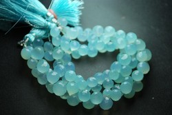 Aqua Chalcedony Faceted Onion Briolettes