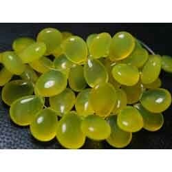 Yellow Chalcedony Smooth Polished Large Pear Briolettes