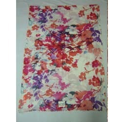 Woolen Printed Stole In Floral Design Size 70x200CMS