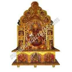 Wooden Painting Ganesh With Sitting