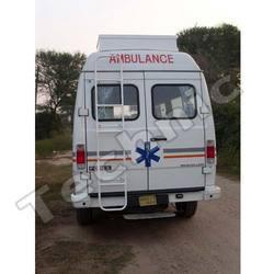 back side of ambulance