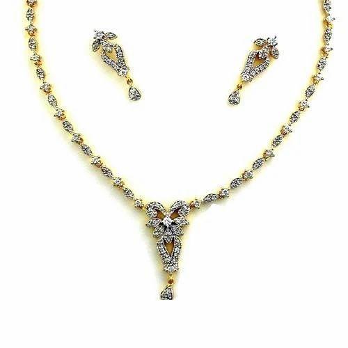 Traditional Zircon Jewellery Necklace Set