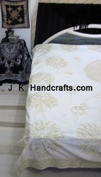 Embroidered Gold Thread Beddings