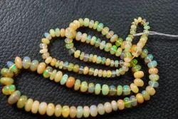 Yellow Ethiopian Opal Rondelles
