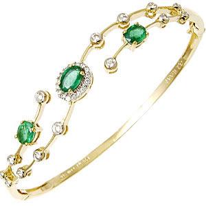 Elegant Emerald Bracelet, Green for Emerald Bracelet