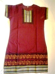 Designer Cotton Block Printed Kurtis