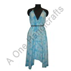 Fancy Hand Tie Dyed Cotton Fabric Dress