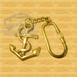 Anchor Brass Key Chain