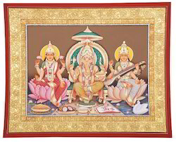 Ganesh Laxmi Sarswati Paintings