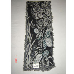 Item no 610 wln jamawar boiled with hand-embroidery muffler.