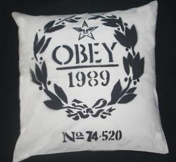 Black Print Cushion Cover