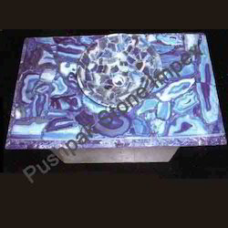 Blue Agate Bowl With Slab