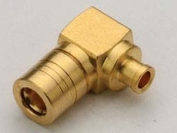 SMB Male Right Angle Solder Connector