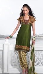 Silk Embroidered Salwar Suits