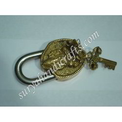 Brass Lock Chabi With Ganesh