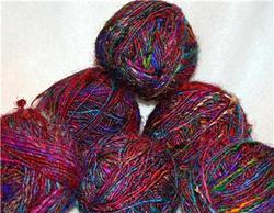 Sari Silk Yarns In Balls