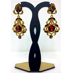 Crystal Jhumka Earrings