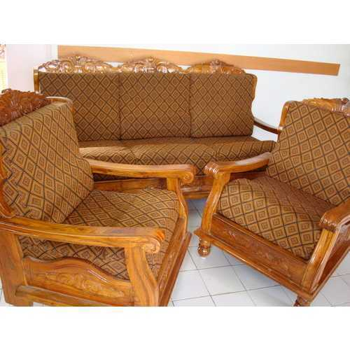 Modular Furnitures Teak Wood Sofa With Cover
