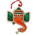 Magnificient Ganesha : White Metal Hangings