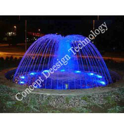 Dome Fountain With Color Changing Effect