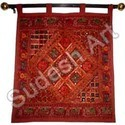 Red Patchwork Wall Hanging