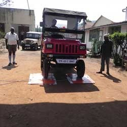 Portable Axle Weigh Pad
