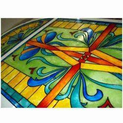 designer glass painting