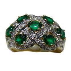 Diamond and Emerald Rings