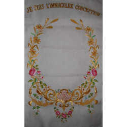 Hand Embroidery Of Catholic Banner