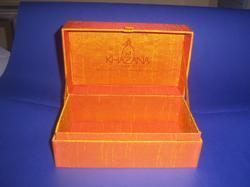 Silk Fabric Covered Boxes With Print