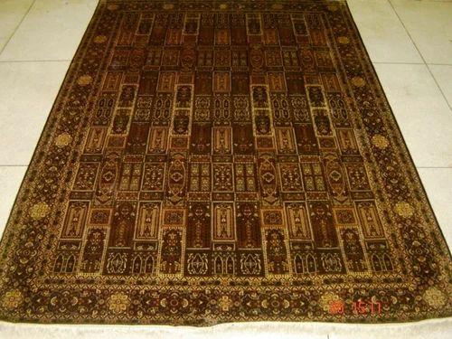 Kashmir Hand Knotted Silk On Cotton Carpet