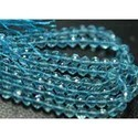 Natural Sky Blue Topaz Faceted Round Beads Rondelles