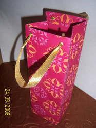 Screen Printed Handmade Paper Wine Bottle Bags