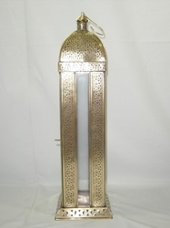 Brass Nickel Plated Lantern