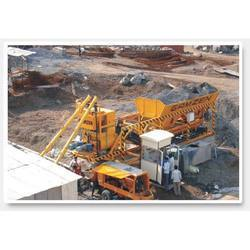 Mobile Concreting Twin Shaft Mixer