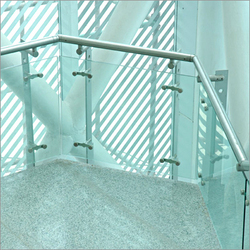 SS Glass Spider Railings