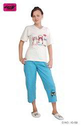 Ladies Printed Pajama Sets