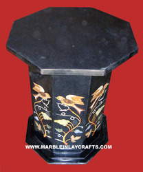 Black Marble Table Stand
