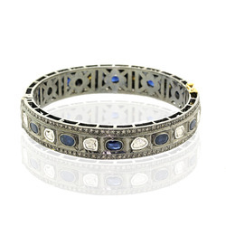Blue Sapphire Bangle Jewelry